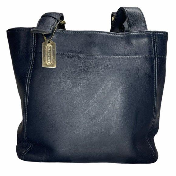 Vintage Coach Leather Shoulder Tote Handbag
